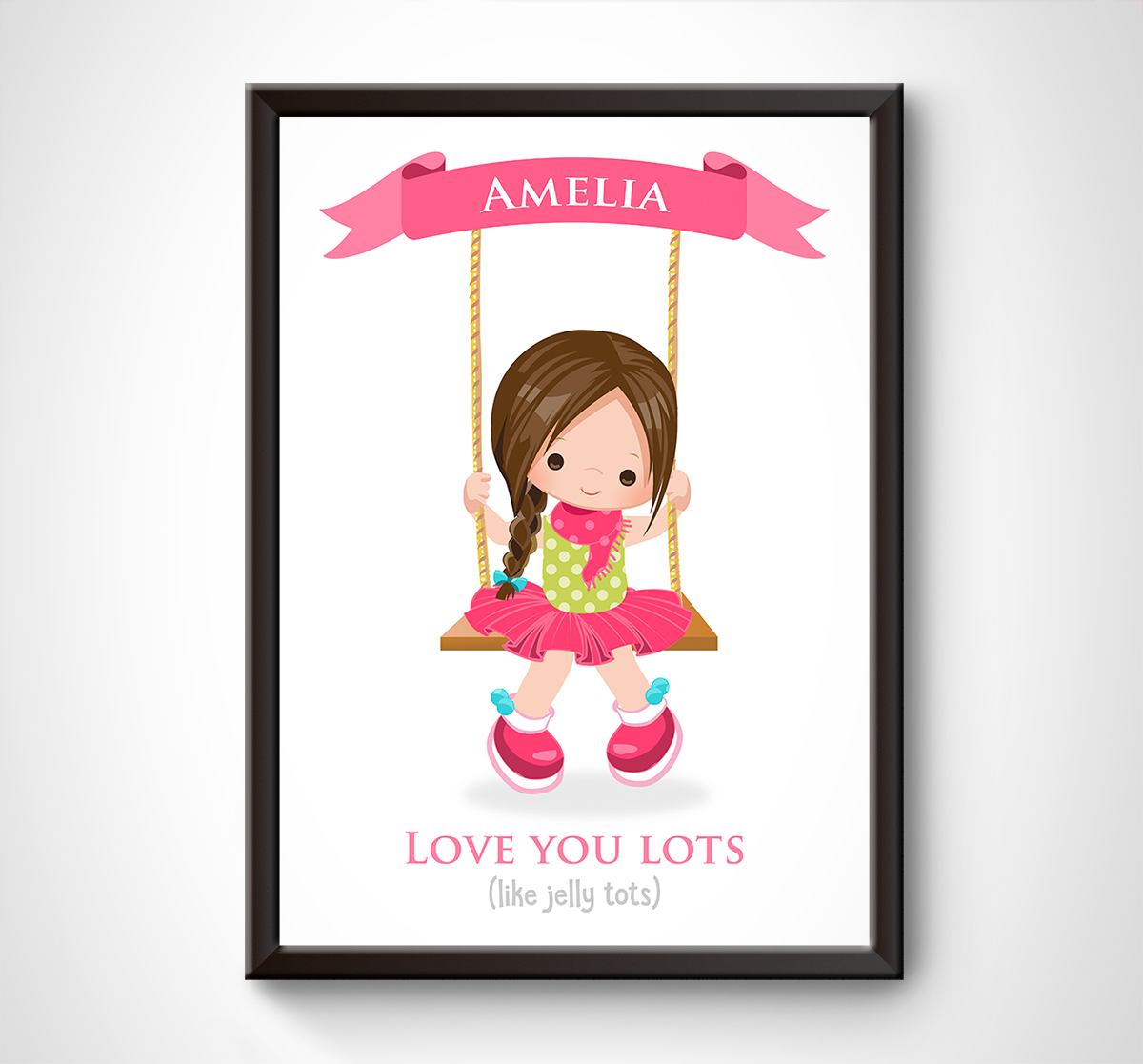 Girl on a Swing Print