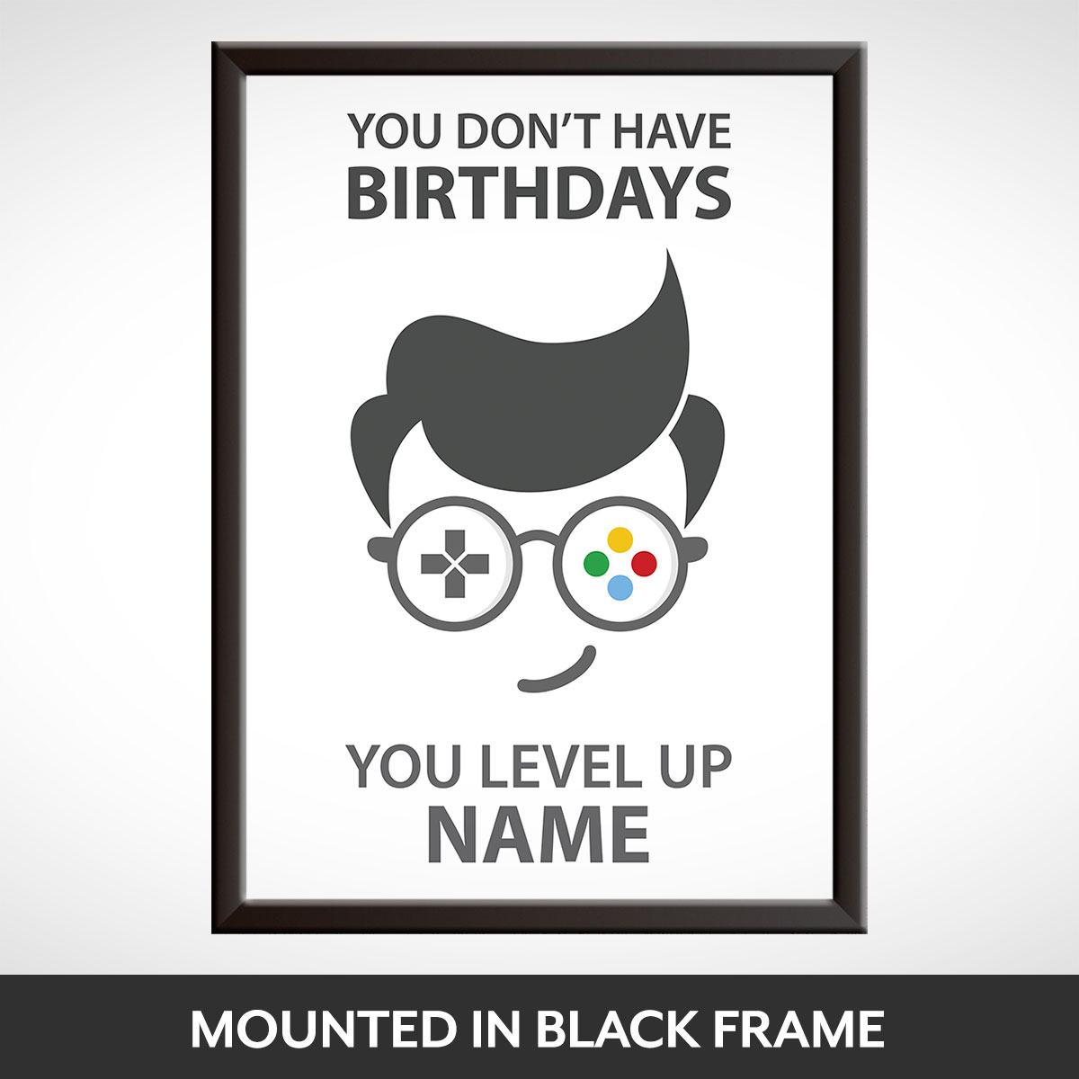 Personalised Level Up Birthday Gift Idea